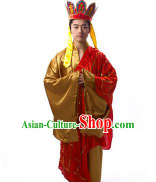 Traditional Chinese Journey to the West Tang Monk Costume for Men