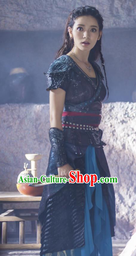 Asian China Han Dynasty Swordswoman Evilkind Princess Costume, Traditional Chinese Ancient Assassin Clothing for Women