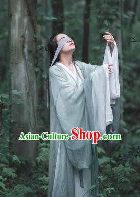 Asian China Jin Dynasty Princess Costume Complete Set, Traditional Ancient Chinese Elegant Hanfu Clothing for Women