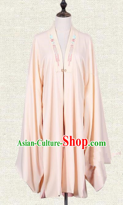 Asian China Ming Dynasty Imperial Princess Clothing Embroidered Pink Blouse, Traditional Ancient Chinese Palace Lady Hanfu Clothing for Women