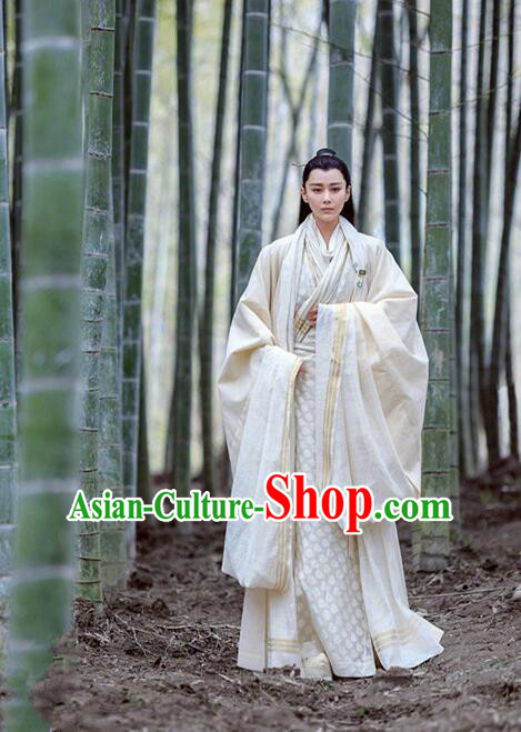 Traditional Chinese Ancient Nobility Childe Embroidered Costume, Huang Feng Prison China Northern and Southern Dynasties Swordsman Clothing
