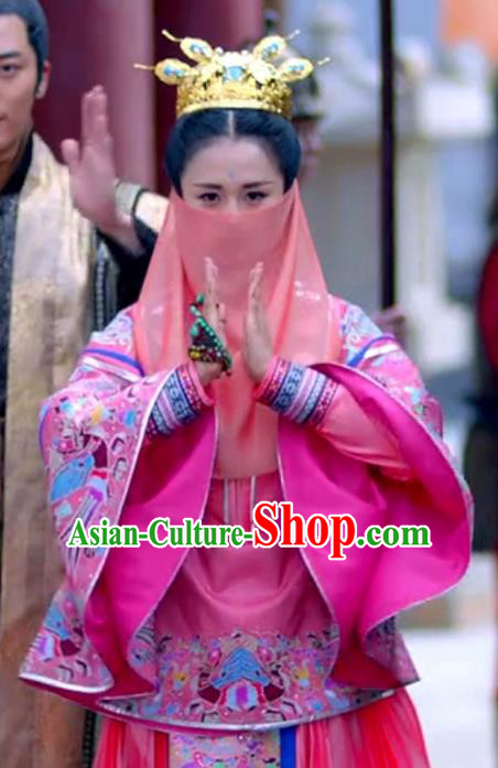 Traditional Ancient Chinese Imperial Princess Costume, Chinese Ming Dynasty Palace Lady Embroidered Clothing for Women