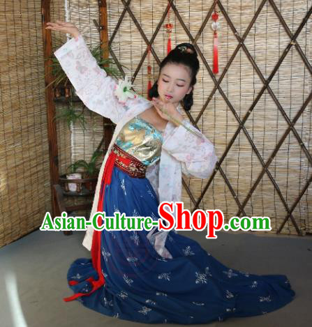 Traditional Chinese Ancient Young Lady Costume, Asian China Song Dynasty Imperial Concubine Hanfu BeiZi Clothing for Women
