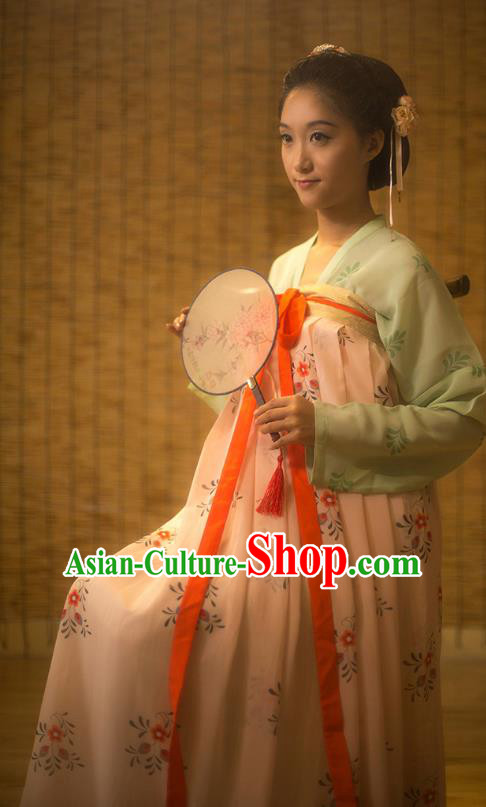 Traditional Chinese Tang Dynasty Princess Silk Slip Skirt Costume, Asian China Ancient Palace Lady Hanfu Dress Clothing for Women