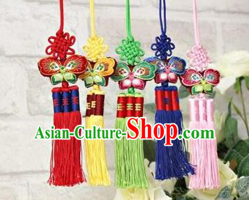 Traditional Korean Accessories Embroidered Waist Pendant, Asian Korean Fashion Wedding Tassel Waist Decorations for Women