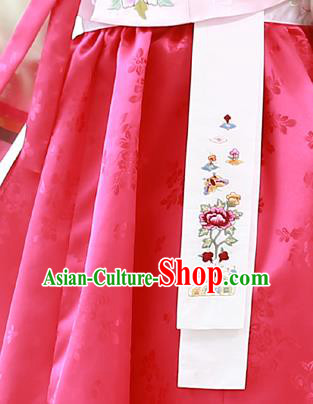 Traditional Korean Accessories Embroidered Waist Pendant, Asian Korean Fashion Wedding Waist Decorations for Kids