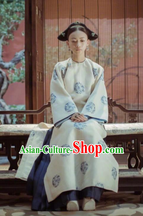 Story of Yanxi Palace Traditional Ancient Chinese Qing Dynasty Palace Lady Costume, Chinese Manchu Lady Imperial Consort Clothing for Women