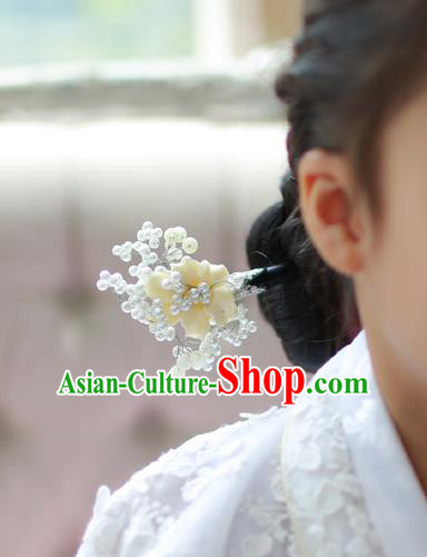 Traditional Korean National Hair Accessories Hairpins, Asian Korean Fashion Wedding Hanbok Hair Decorations Headwear for Kids