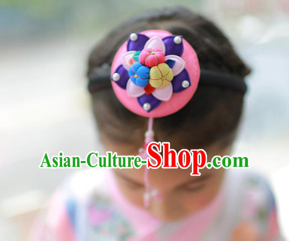 Korean National Hair Accessories Hair Clasp, Asian Korean Hanbok Fashion Headwear Headband for Kids