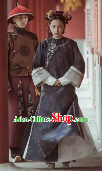 Story of Yanxi Palace Traditional Ancient Chinese Qing Dynasty Imperial Consort Costume Manchu Lady Embroidered Clothing for Women