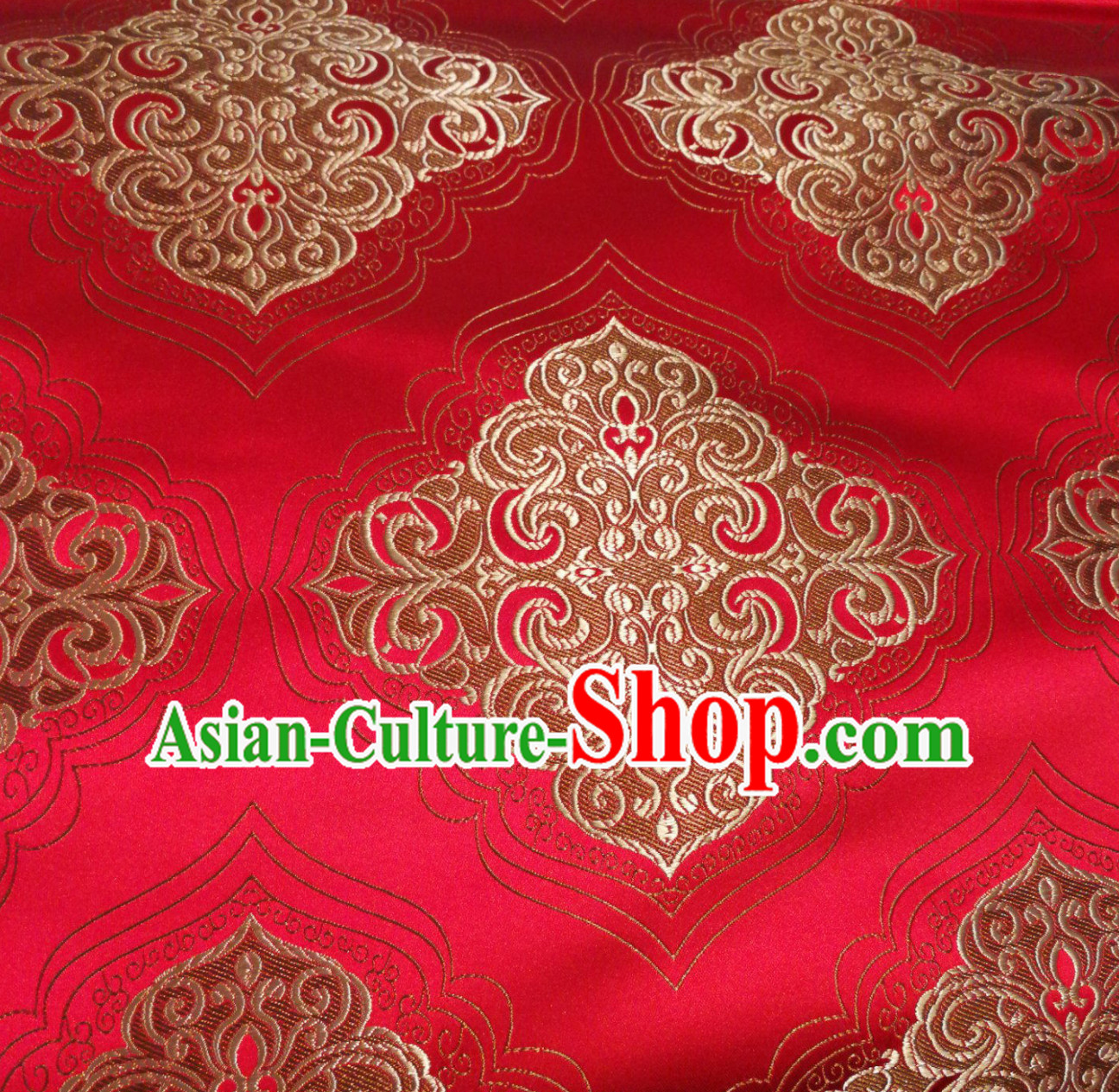 Royal Red Chinese Royal Palace Style Traditional Pattern Design Brocade Fabric Silk Fabric Chinese Fabric Asian Material