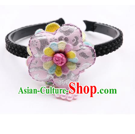 Traditional Korean Hair Accessories Tassel Hair Clasp, Asian Korean Hanbok Fashion Headwear Headband for Kids