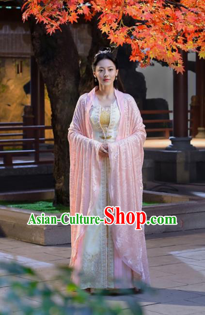 Traditional Chinese Northern and Southern Dynasties Princess Costume, Asian China Ancient Palace Lady Embroidered Dress Clothing for Women