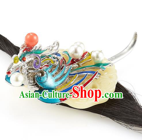 Korean National Wedding Hair Accessories Bride Phoenix Hair Clasp, Korean Hanbok Fashion Headband for Kids