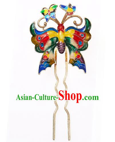 Korean National Wedding Hair Accessories Bride Butterfly Hairpins, Korean Hanbok Fashion Palace Hair Clasp for Women