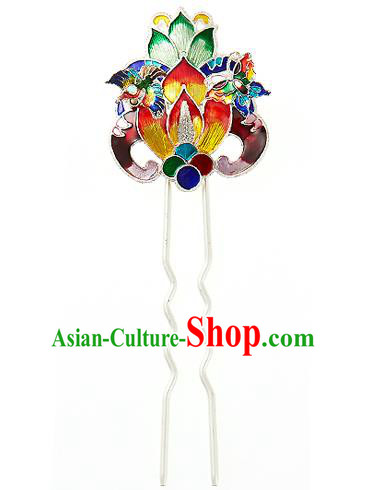 Korean National Wedding Hair Accessories Bride Lotus Hairpins, Korean Hanbok Fashion Palace Hair Clasp for Women