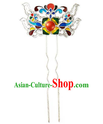 Korean National Wedding Hair Accessories Bride Blueing Hair Clip, Korean Hanbok Fashion Palace Hairpins for Women