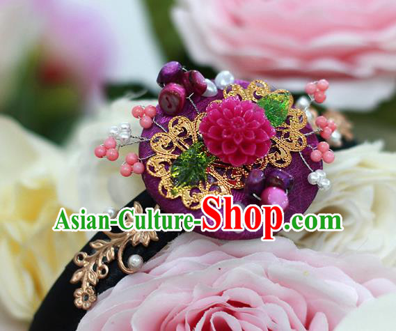 Korean National Hair Accessories Daisy Hair Clasp, Asian Korean Hanbok Fashion Headwear Headband for Kids