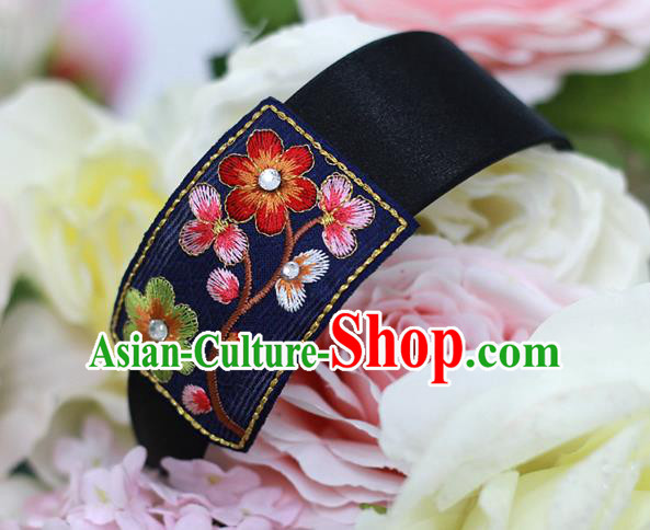 Korean National Hair Accessories Embroidered Hair Clasp, Asian Korean Hanbok Fashion Headwear Headband for Kids