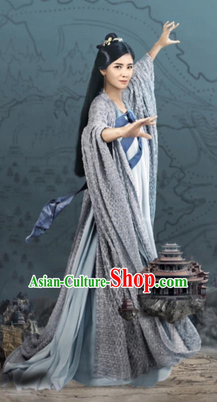 Traditional Chinese Ancinet Palace Lady Dress Legend Of Fu Yao Tang Dynasty Swordswoman Embroidered Costume for Women