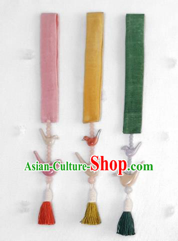 Asian Korean Hanbok Tassel Waist Decorations, Korean National Belts Accessories Wedding Bride Waist Pendant for Women