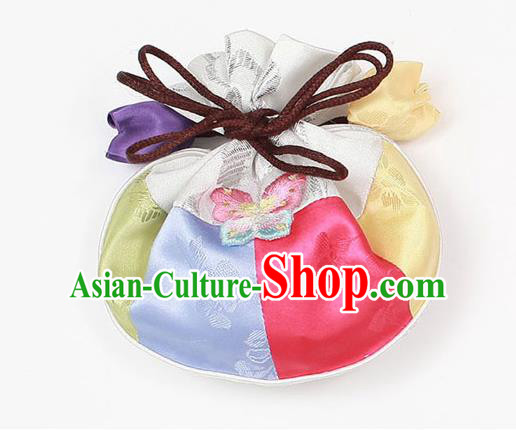 Traditional Korean Accessories Embroidered Sachet, Asian Korean Fashion Waistband Bag for Kids