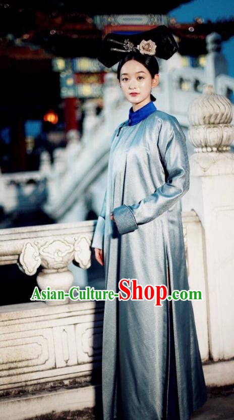 Traditional Ancient Chinese Qing Dynasty Imperial Consort Costume, Chinese Manchu Palace Lady Embroidered Clothing for Women