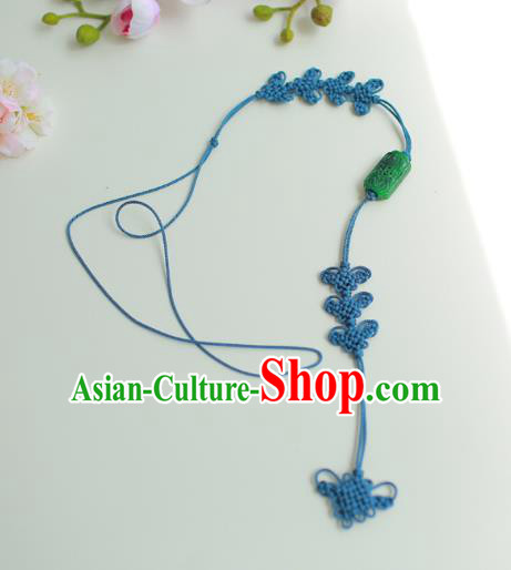 Asian Korean Hanbok Green Chinese Knot Waist Decorations, Korean National Belts Accessories Wedding Bride Waist Pendant for Women