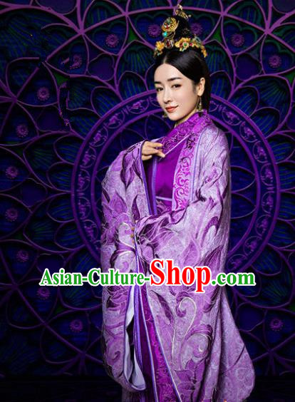 Traditional Chinese Southern and Northern Dynasties Palace Lady Costume, Chinese Ancient Imperial Concubine Embroidered Clothing for Women