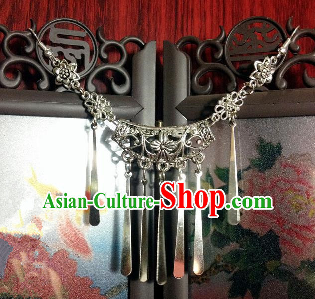 Traditional Chinese Ancient Classical Hair Accessories Forehead Ornament Hair Clasp Bride Step Shake Hairpins for Women