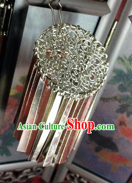 Traditional Chinese Ancient Classical Hair Accessories Tassel Hair Clip Step Shake Bride Hairpins for Women