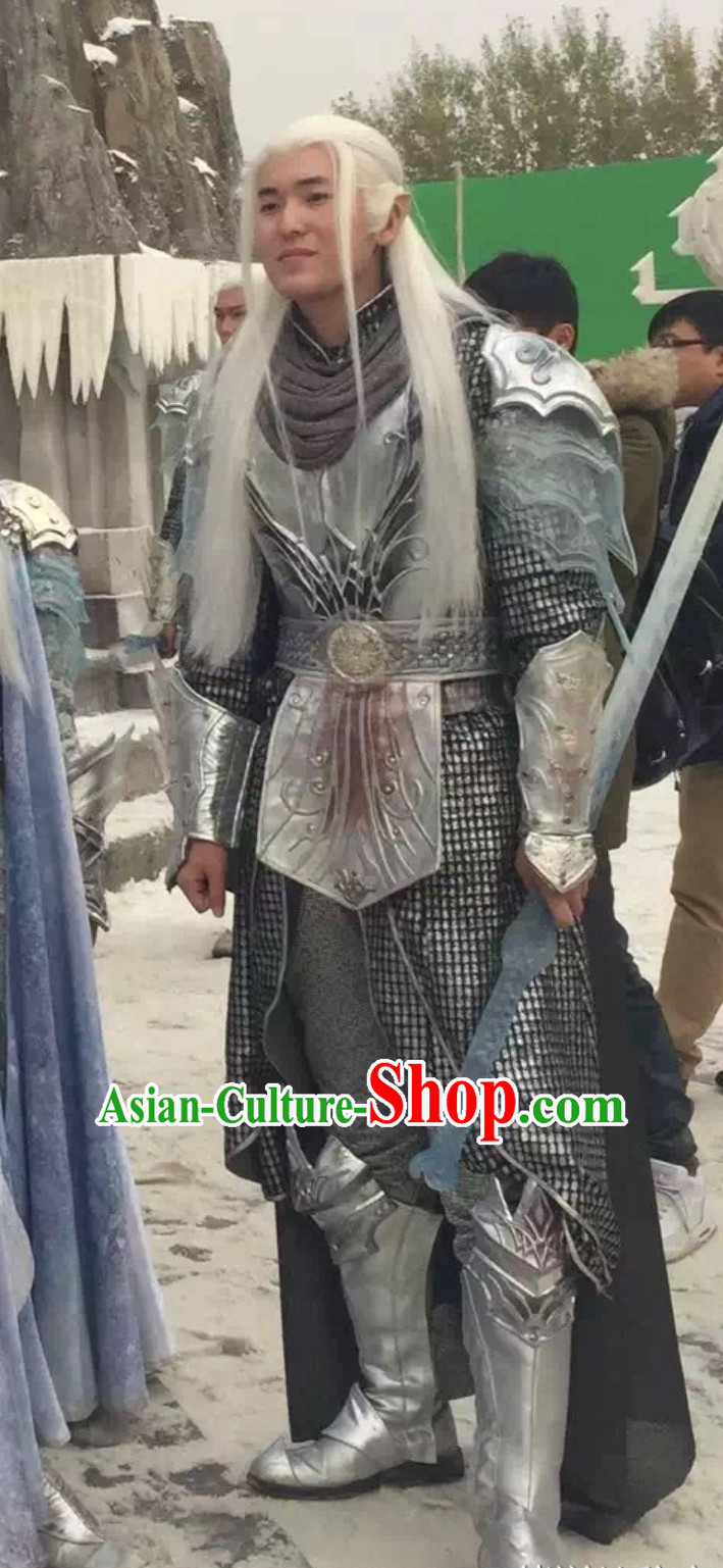 Ice Fantasy Prince Drama Costumes Complete Set for Men