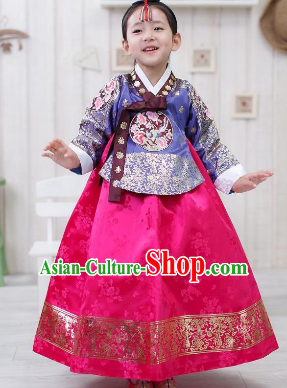 Traditional Korean Hanbok Clothing, Asian Korean Fashion Apparel Hanbok Costume for Kids