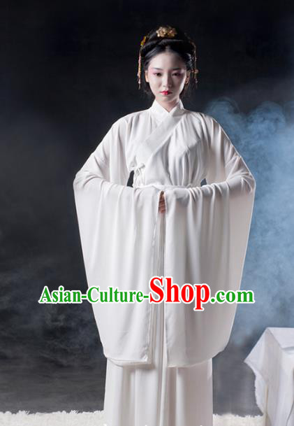Asian China Han Dynasty Princess Underpants Costume, Traditional Ancient Chinese Young Lady Hanfu Clothing for Women