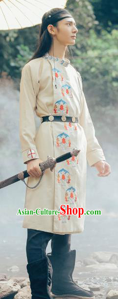 Asian China Ming Dynasty Swordsman Costume, Traditional Ancient Chinese Imperial Bodyguard Hanfu Embroidered Clothing for Women
