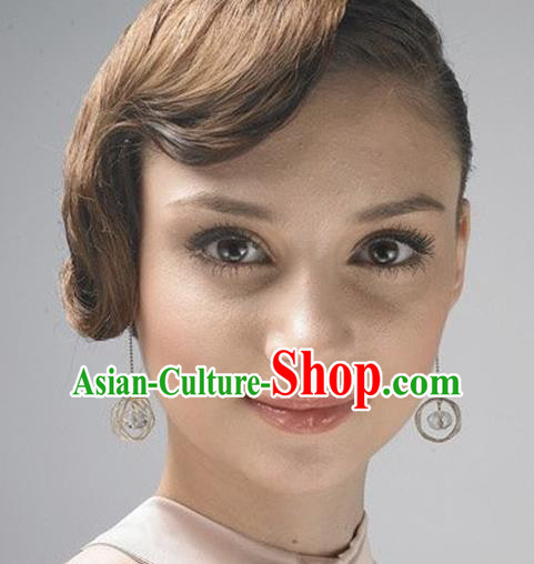 Traditional Korean Accessories Crystal Earrings, Asian Korean Fashion Wedding Eardrop Jewelry for Women