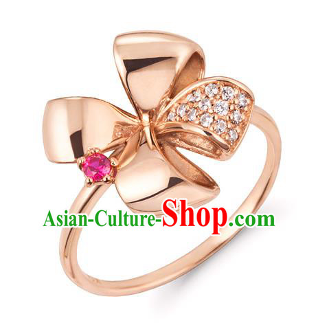 Traditional Korean Accessories Asian Korean Fashion Wedding 14K Gold Rings for Women
