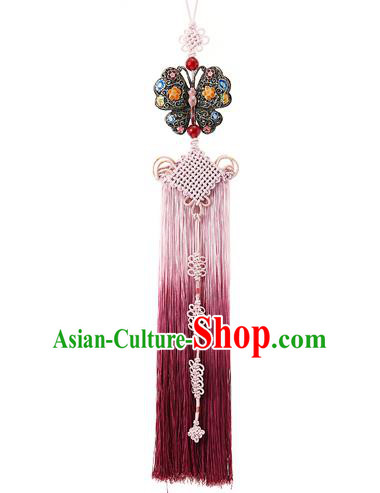 Traditional Korean Accessories Waist Pendant, Asian Korean Fashion Wedding Butterfly Tassel Waist Decorations for Women