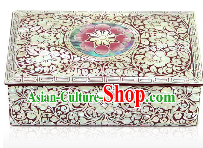 Traditional Korean Craft Handmade Cosmetic Container Shell Dowry Box, Asian Korean Wedding Jewellery Case for Women