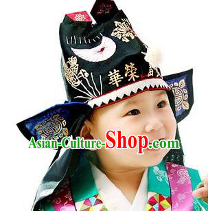Traditional Korean Handmade Formal Occasions Embroidered Pink Costume, Asian Korean Apparel Hanbok Dress Clothing for Boys