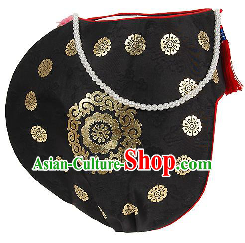 Traditional Korean Hair Accessories Embroidered Hats, Asian Korean Fashion Children Wedding Headwear for Girls