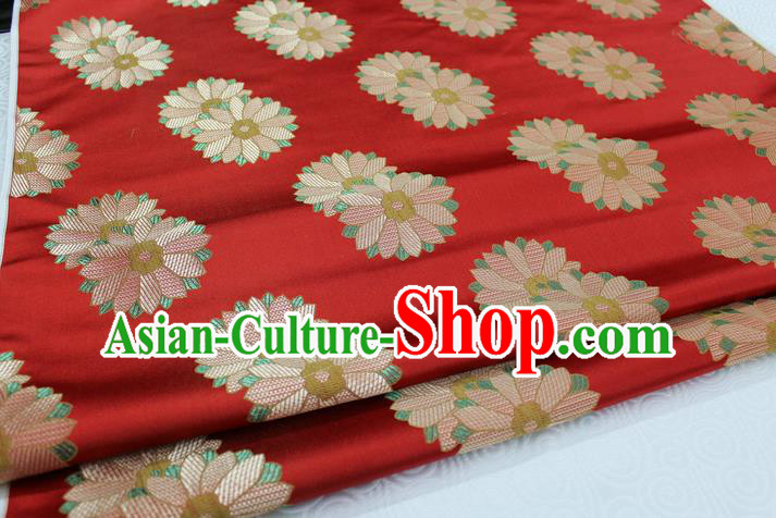 Chinese Traditional Ancient Costume Palace Flower Pattern Xiuhe Suit Cheongsam Red Brocade Cheongsam Satin Fabric Hanfu Material