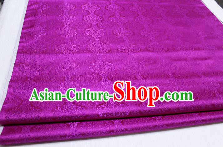 Chinese Traditional Ancient Costume Palace Pattern Cheongsam Mongolian Robe Rosy Brocade Tang Suit Fabric Hanfu Material
