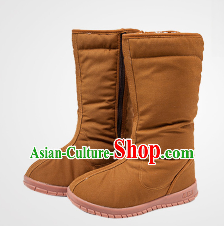 Chinese Classical Winter Daoist Tai Chi High Boots