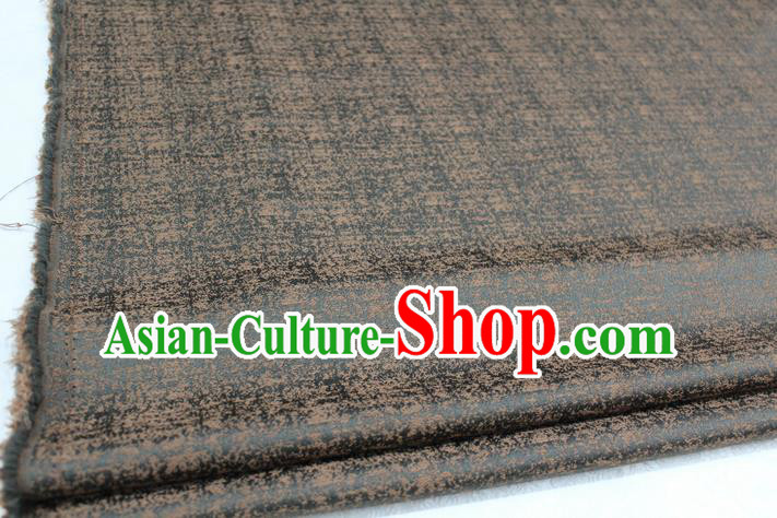 Chinese Traditional Ancient Costume Royal Palace Tang Suit Brown Brocade Mongolian Robe Satin Fabric Hanfu Material