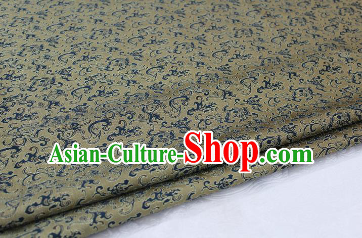 Chinese Traditional Ancient Costume Royal Palace Pattern Mongolian Robe Bronze Brocade Tibetan Robe Satin Fabric Hanfu Material