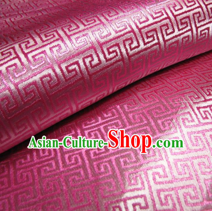 Chinese Traditional Royal Palace Pattern Design Pink Brocade Fabric Ancient Costume Tang Suit Cheongsam Hanfu Material