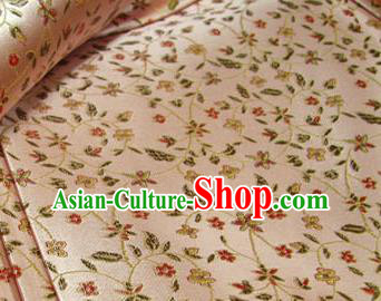 Chinese Traditional Palace Pattern Design Hanfu Pink Brocade Fabric Ancient Costume Tang Suit Cheongsam Material