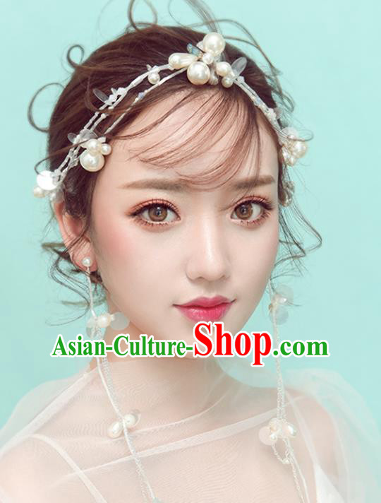 Chinese Traditional Bride Hair Jewelry Accessories Wedding Baroque Retro Crystal Hair Clasp for Women