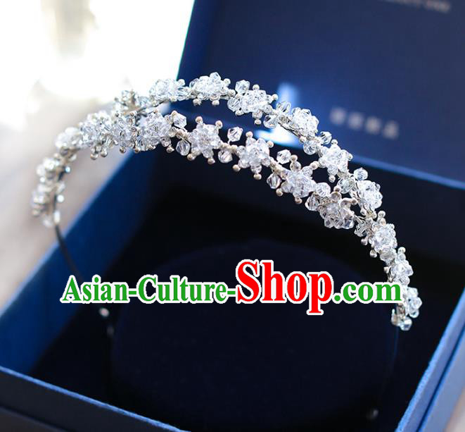 Chinese Traditional Bride Hair Accessories Wedding Crystal Hair Clasp Headwear for Women